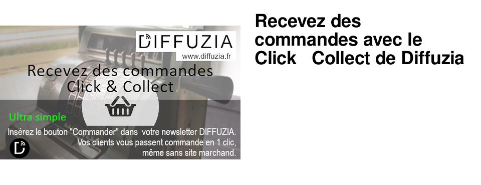 Recevez des commandes avec le Click & Collect de Diffuzia